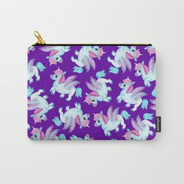Flying Unicorns in Purple Carry-All Pouch