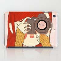 nan lawson iPad Cases featuring Behind The Lens by Nan Lawson