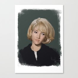 Sylvie Vartan Canvas Print