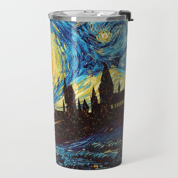 Flaying wizard starry night iPhone 4 5 6 7 8, pillow case, mugs and tshirt Travel Mug