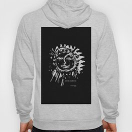 Sun and moon black ad white drawing Hoody