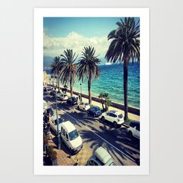 Palm trees from France  Art Print