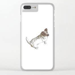 Scratchy the Jack-Russel (clear background) Clear iPhone Case