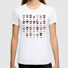Harry Potter Alphabet Womens Fitted Tee SMALL Ash Grey