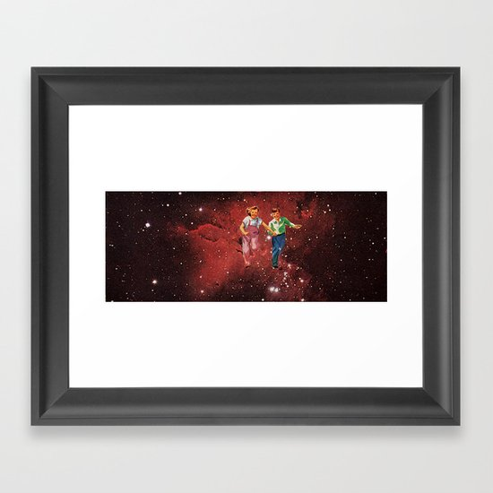We spent most of our childhood lost in space. Framed Art Print