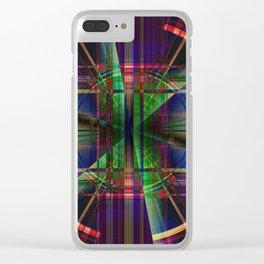 Plaid Movement 001 - Geometric - Unique Plaid - Colorful Plaid Clear iPhone Case