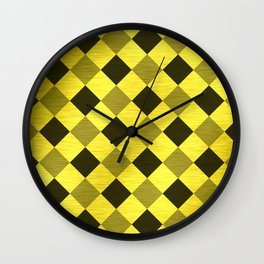 Gold Collection K12 - Checkerboard Wall Clock