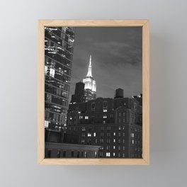 Empire State Building at Night Framed Mini Art Print