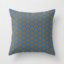 Embroidered Kaleidoscope - Rounders Throw Pillow