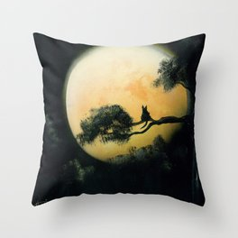 Autumn Moon Throw Pillow