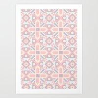 Ethnic Moroccan Motifs Seamless Pattern 8 Art Print