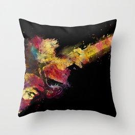 guitar art 8 #guitar #art #music Throw Pillow