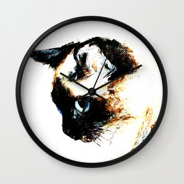 Siamese Cat 2015 edit Wall Clock