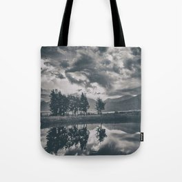 Black and white lake Tote Bag