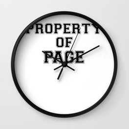 Property of PAGE Wall Clock