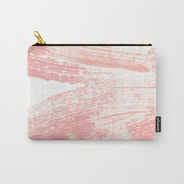 Stacked Pink Brushstrokes Carry-All Pouch