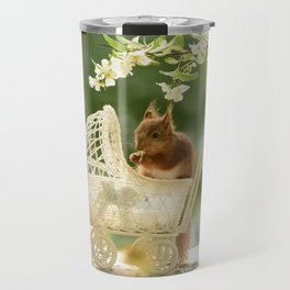 squirrels with stroller Travel Mug