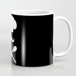 Chef Hat: Mustache & Cross Knife Spoon Coffee Mug