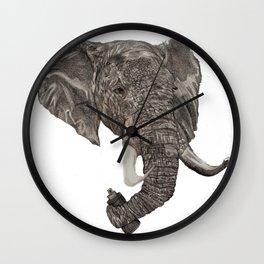 Street Elephant Wall Clock