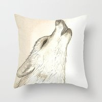 howl Throw Pillows featuring Howl by Lindzey42