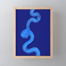 blue pathways Framed Mini Art Print