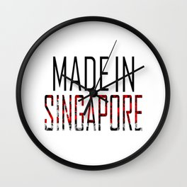 Made In Singapore Wall Clock