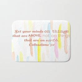 On thing above - illustration Bath Mat