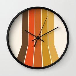 Righteous - 70s style throwback rainbow art 1970s minimalist art Wall Clock