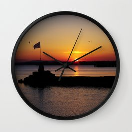 A beautiful sunset view of Lough Neagh Wall Clock