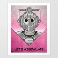 Cyberman - Let's Assimilate Art Print