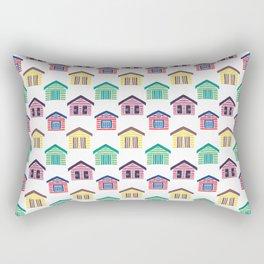 The Colorful Beach Houses Rectangular Pillow