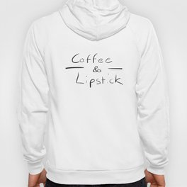 Coffee Lipstick Printed Urban Design Print Tee Coffee T-Shirts Hoody