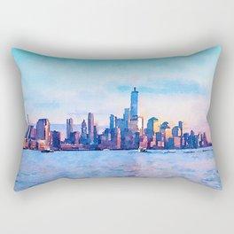 New York 3 Rectangular Pillow