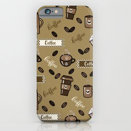 Coffee cups pattern iPhone Case