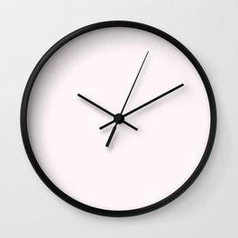 Seashell Pink Solid Pantone #fef6f8 Wall Clock