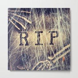 Signs: RIP Metal Print