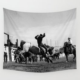 Rodeo Riders at the 1940 Calgary Stampede - Cow-boys de rodéo au Stampede de Calgary de 1940  Wall Tapestry