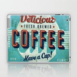 Vintage Style Coffee Sign Laptop & iPad Skin