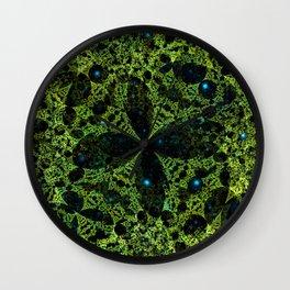 Green mystery Wall Clock