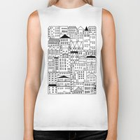 cityscape Biker Tanks featuring cityscape by Anna Grunduls