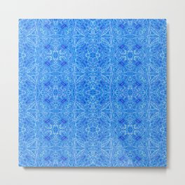 Blue pattern ... Metal Print