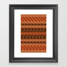 warao pattern Framed Art Print
