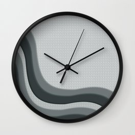 PPG Night Watch Pewter Green Soothing Waves with Canvas Texture Wall Clock