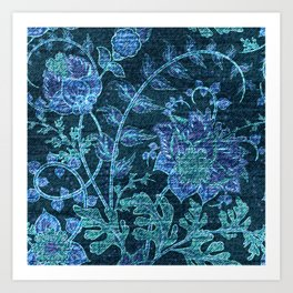 Weathered Florals - Flowers Art Print