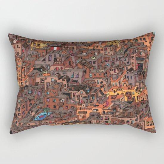 Gold Favela Rectangular Pillow