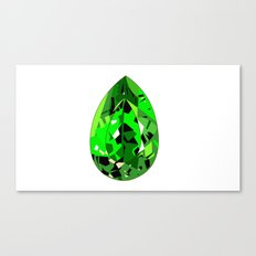 GEMS - green , expensive look , luxury and shine Canvas Print