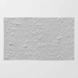 White Plastering Wall Rug