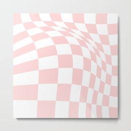 Pink Checker Board Metal Print