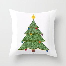 Ornamental Christmas Tree 2 Throw Pillow