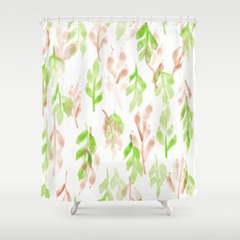 180726 Abstract Leaves Botanical 26 |Botanical Illustrations Shower Curtain